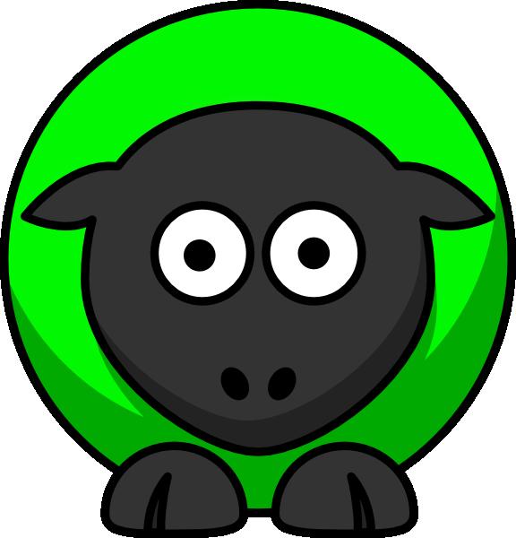 Sheep Green Two Toned Clip Art at Clker.com.