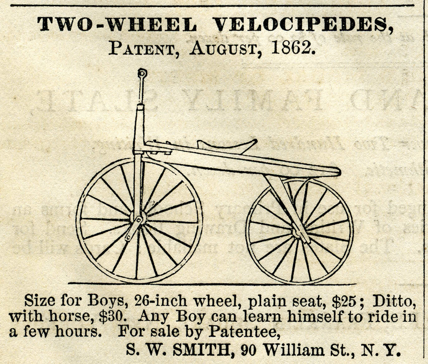 Two Wheel #Velocipede Free Printable Vintage Magazine.