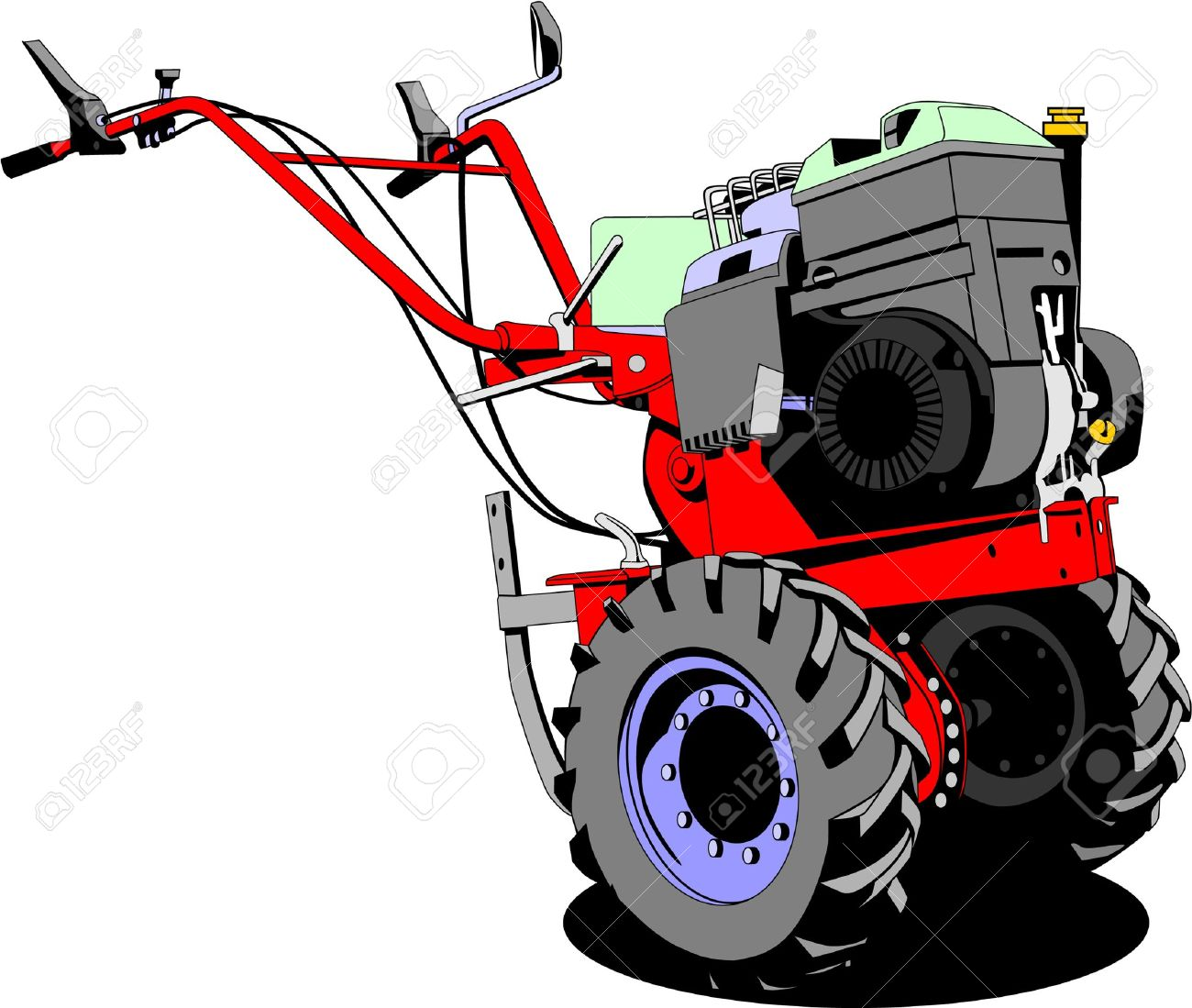 Two Wheel Tractor Royalty Free Cliparts, Vectors, And Stock.
