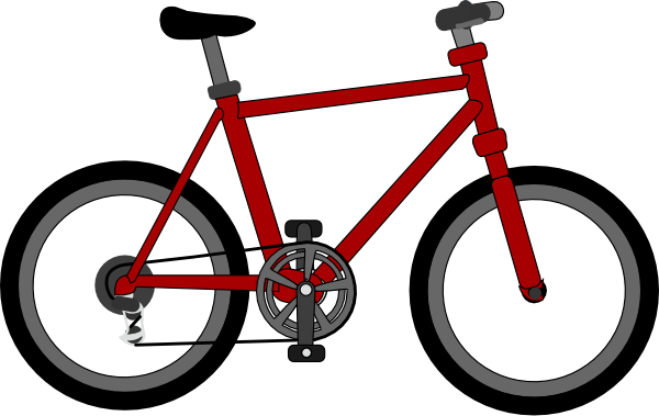 Two wheeler bike clipart.