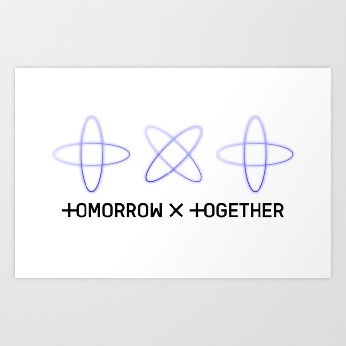 txt tomorrow x together logo b Art Print by yynnehh.