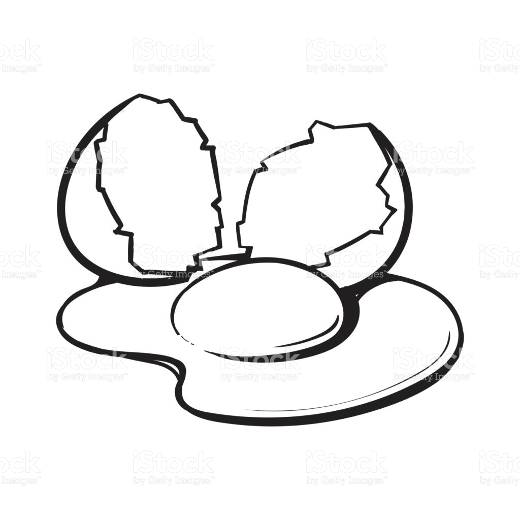 Egg Yolk Clipart Black And White.
