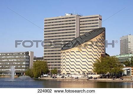 Stock Photo of Observatory at waterfront, Tycho Brahe Planetarium.