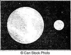 EPS Vectors of Moon of tycho crater, vintage engraving..