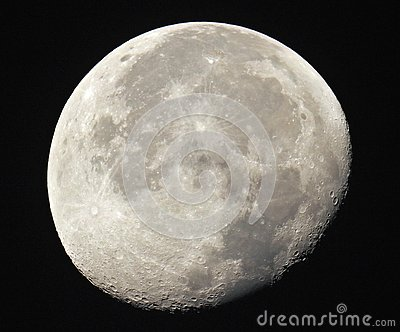 Gibbous Moon Royalty Free Stock Photos.