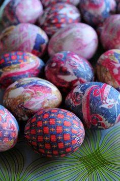 Tie Dyed Eggs.