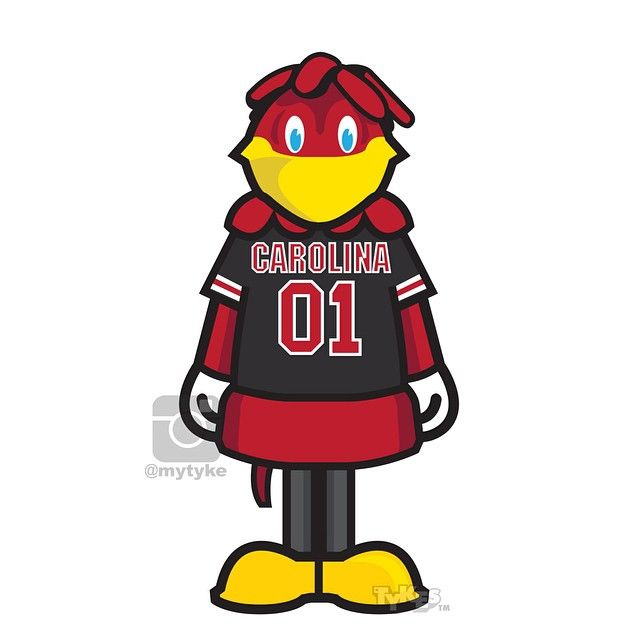 "Cocky"" the South Carolina Mascot ""College Football Kickoff"" Tyke."