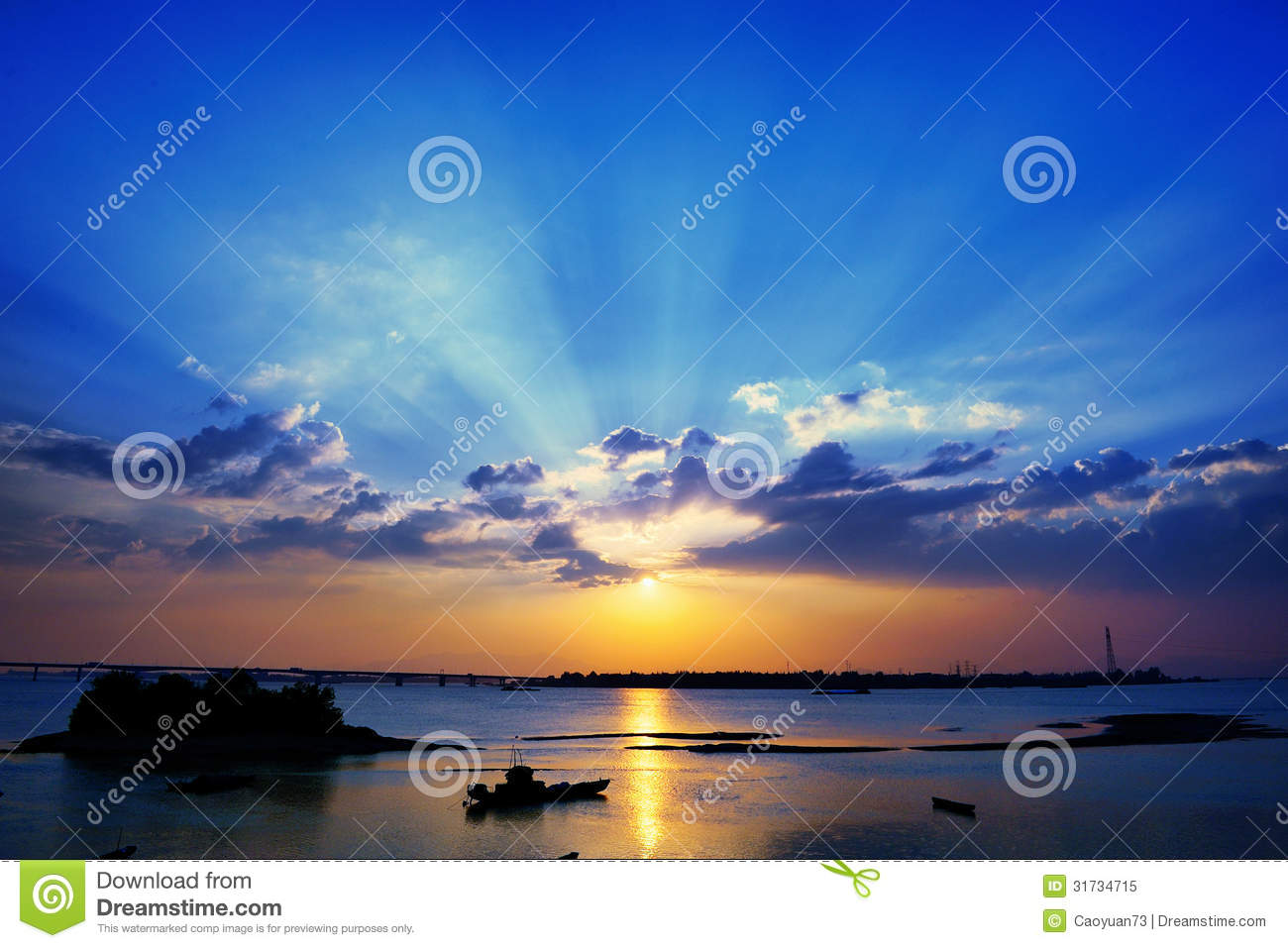 Tyndall Effect Stock Vector.