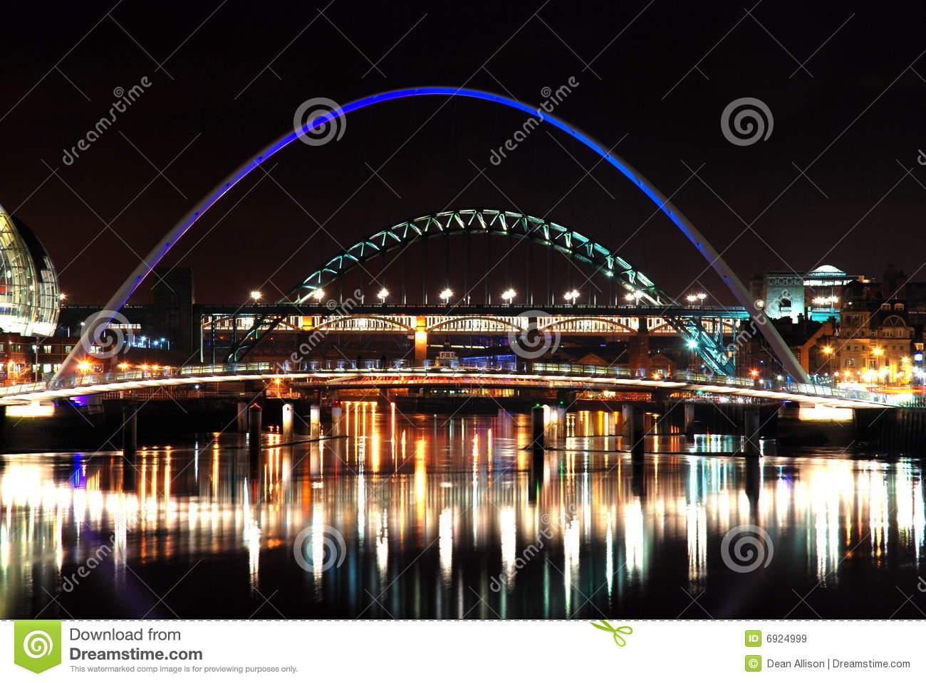 Bridges Of Newcastle Upon Tyne Royalty Free Stock Images.
