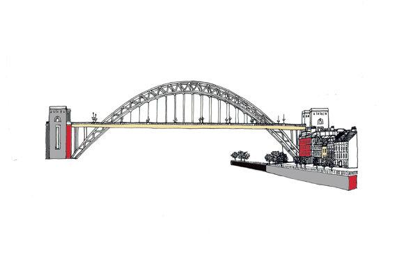 Tyne Bridge Clipart.