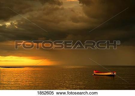 Stock Image of Sunderland, Tyne and Wear, England; Boat anchored.