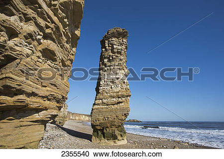 Stock Photography of Sea Stack Known As Lot's Wife; South Shields.