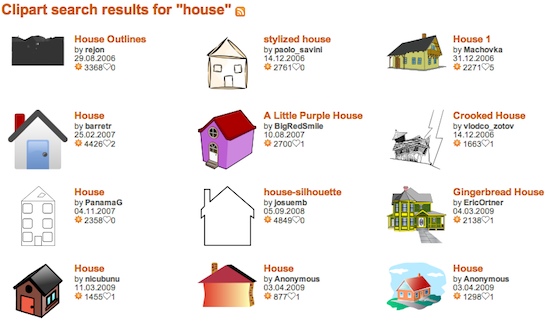 Types of houses clipart.