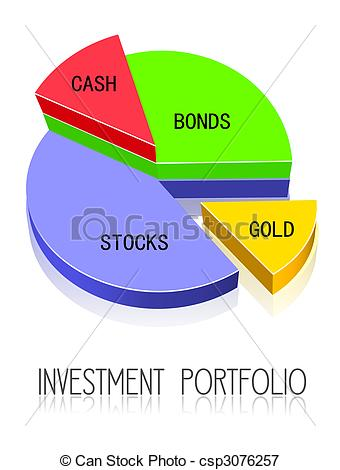 Investment Portfolio Clipart.
