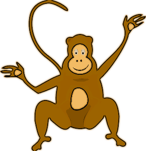 Free Monkey Clipart, 1 page of Public Domain Clip Art.