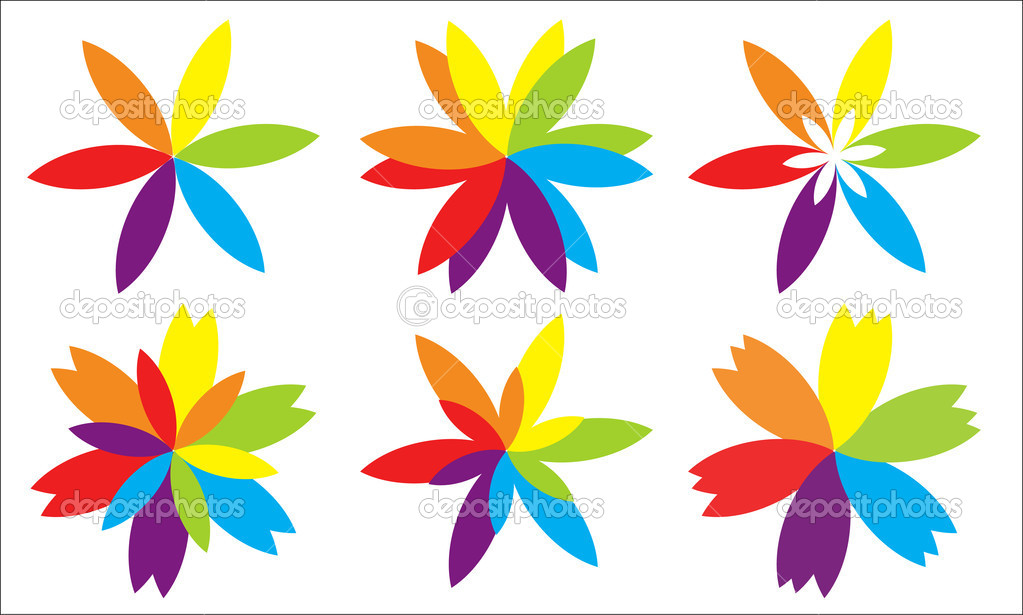 Different Type of Paper Flowers — Stock Vector © baavli #7401674.
