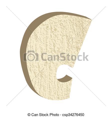 Clipart Vector of Font Type Rock C.