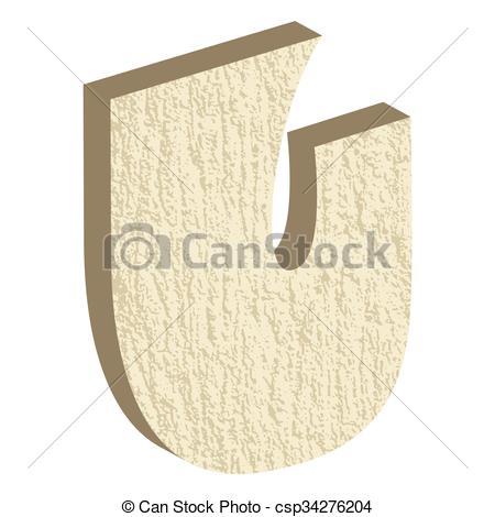 Vector Clipart of Font Type Rock U.
