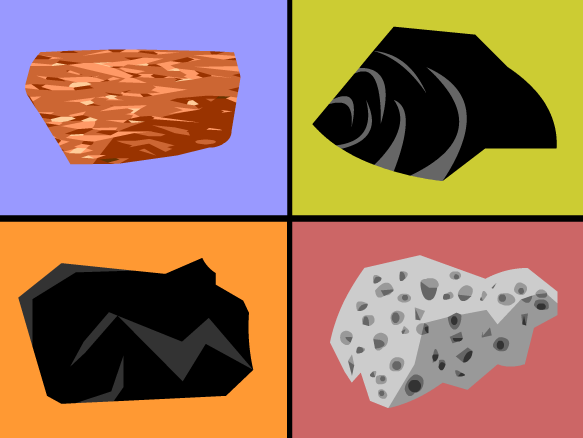 Magma Rock Clipart.