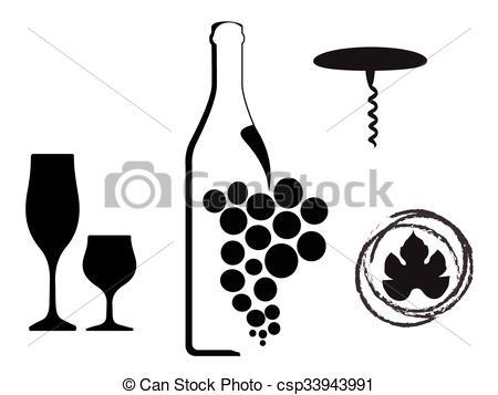 EPS Vectors of wine type designs.