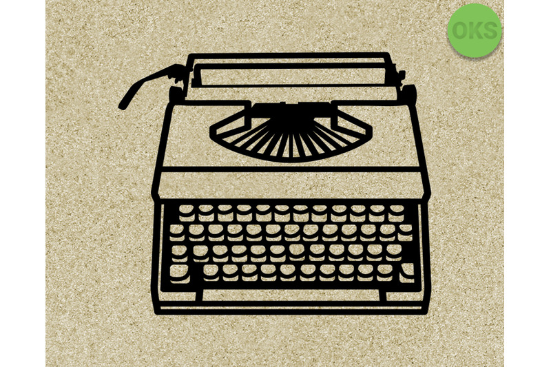 typewriter svg vector clipart download By CrafterOks.