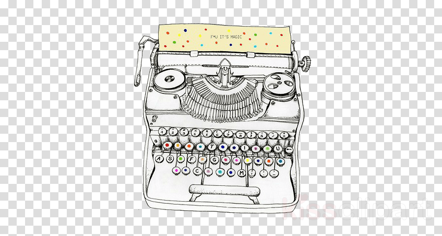typewriter office equipment office supplies drawing clipart.
