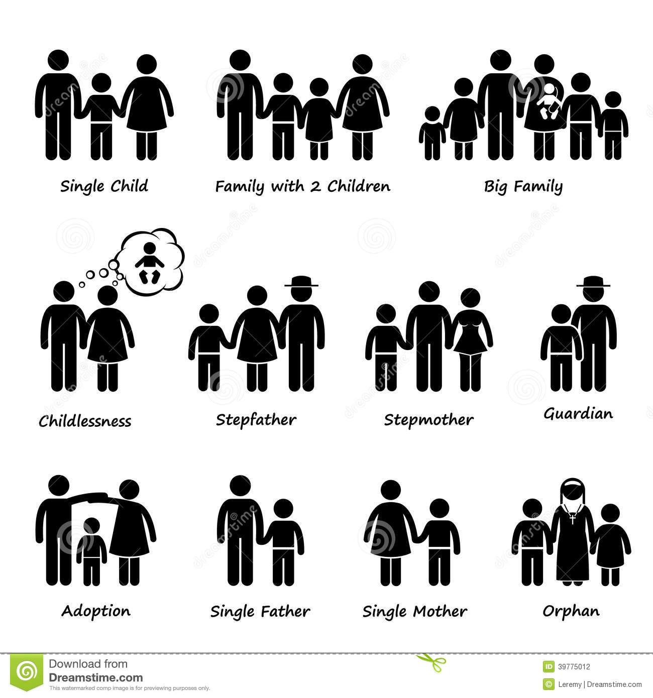 Types Of Family Clipart.