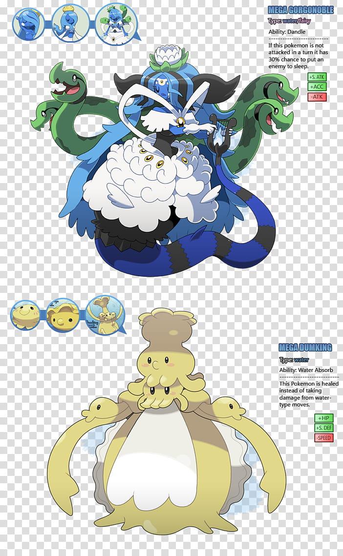Atlantia Fakemon pt. , two Pokemon characters illustration.