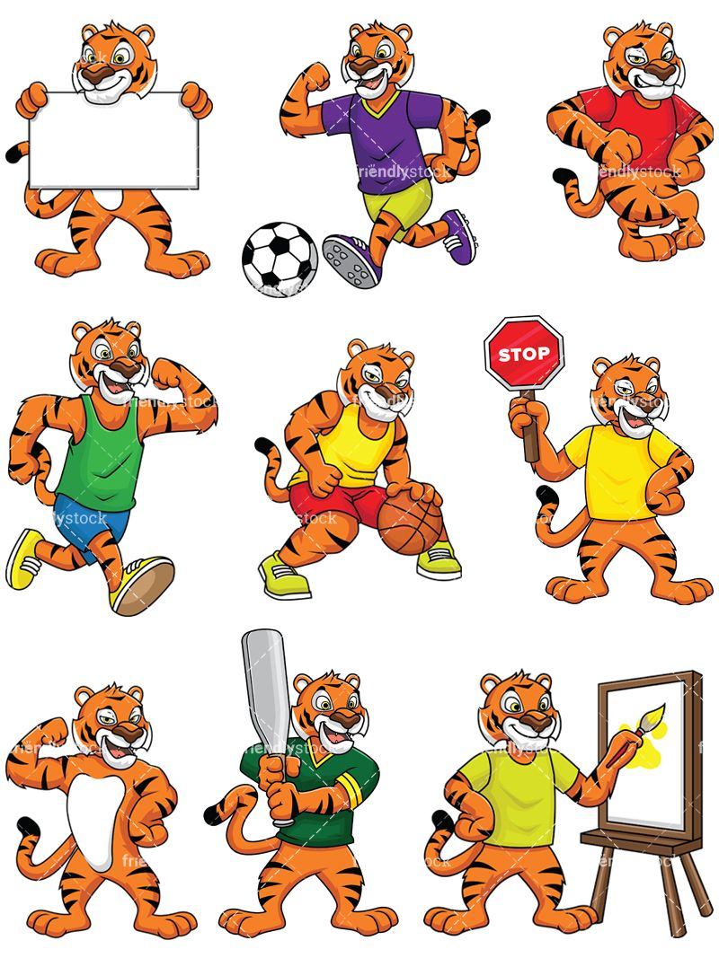 Tiger Mascot Collection.