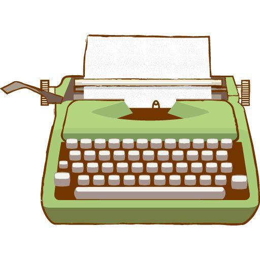 Cute Typewriter Clipart.