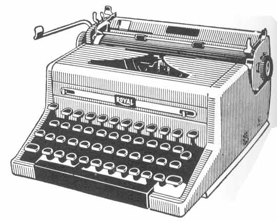 Typewriter Clipart.