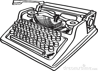 Typewriter Clipart Page 1.