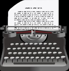 Typewriter Clip Art at Clker.com.