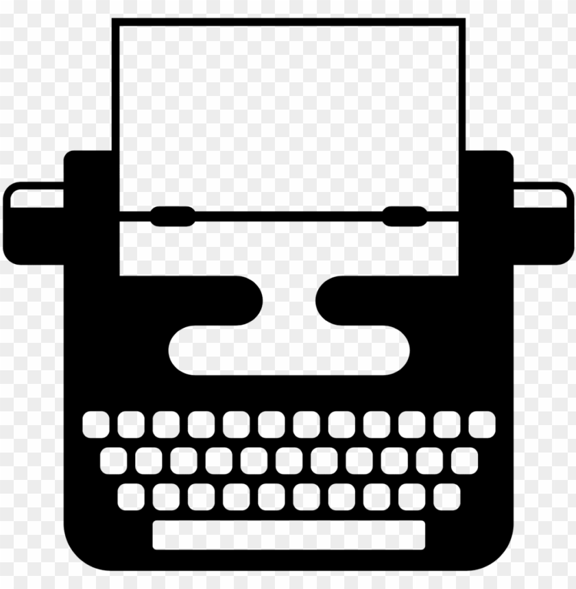 typewriter clipart simple.