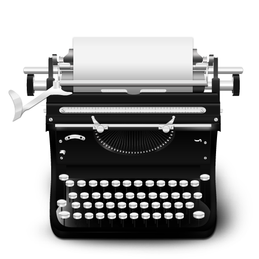 Typewriter vintage icon png #19158.