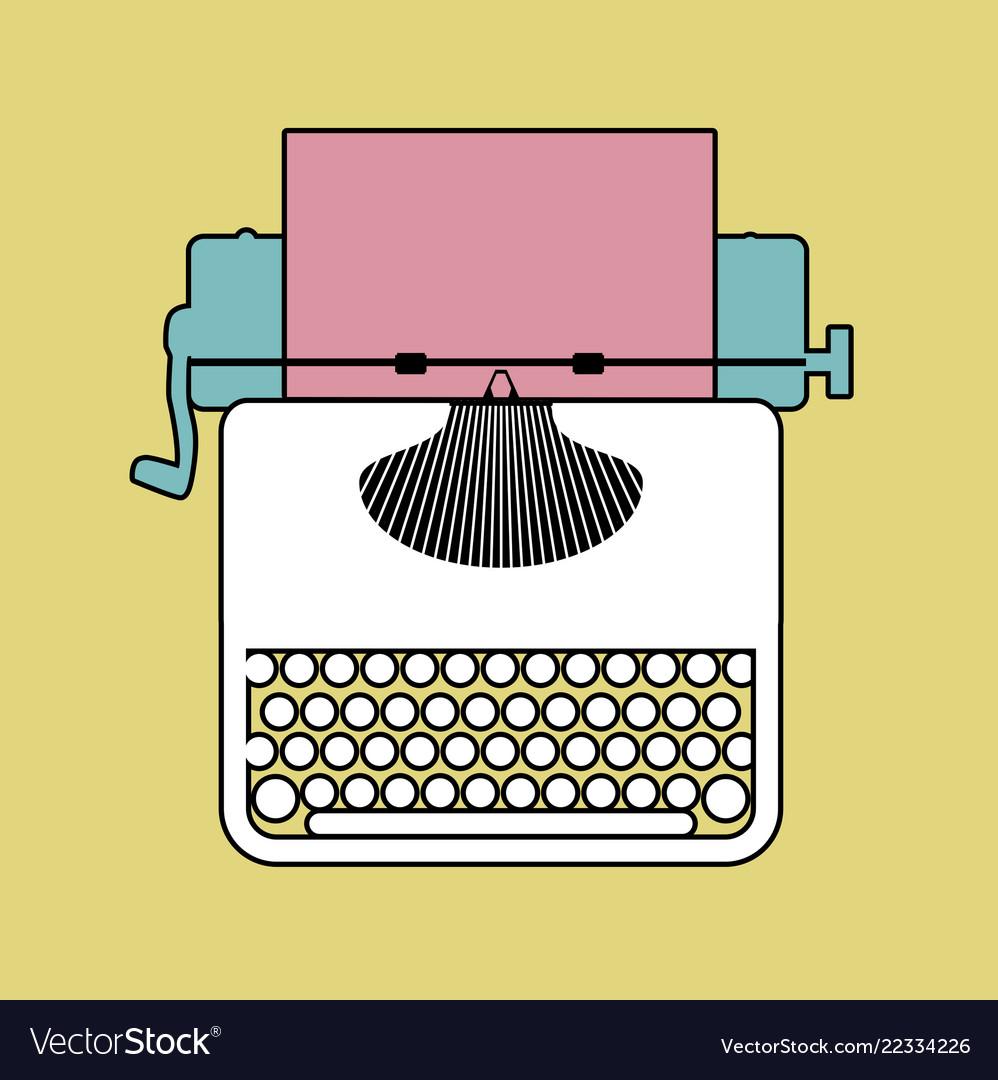 Logo style retro outlines typewriter.