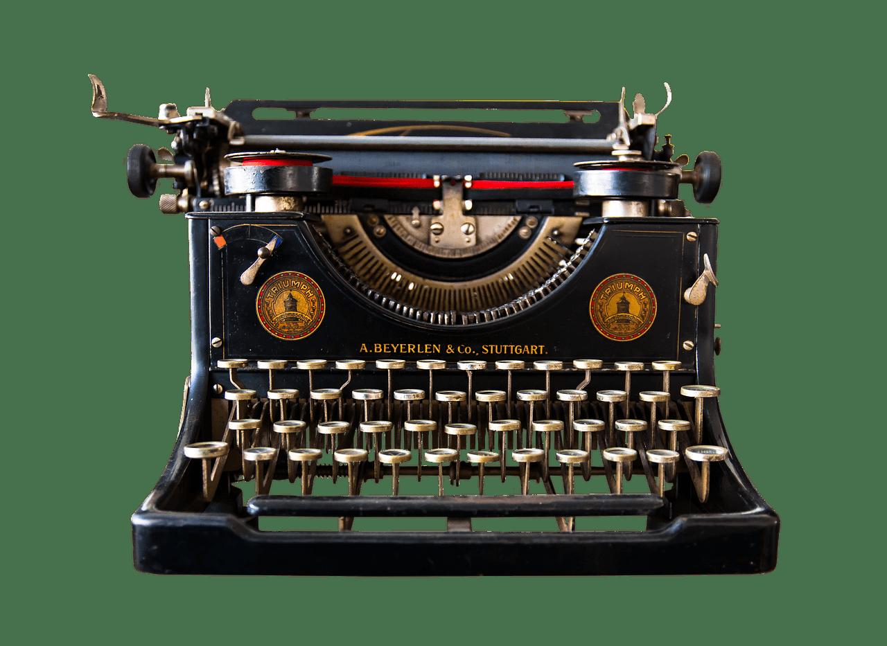 Typewriter Beyerlen and Co transparent PNG.