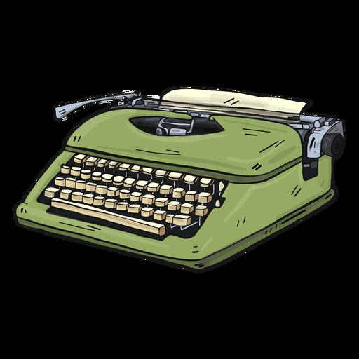 Typewriter button typing illustration.