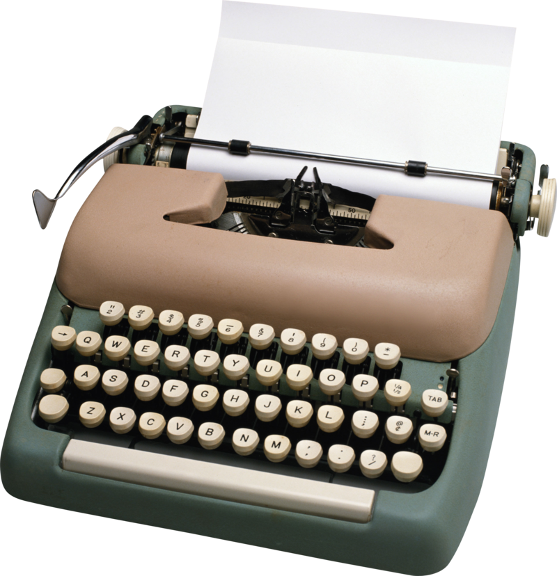 Download Free png Typewriter PNG, Download PNG image with.