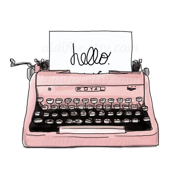 vintage typewriter clip art.
