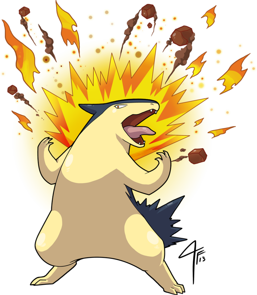 Typhlosion used Eruption by TamarinFrog on DeviantArt.