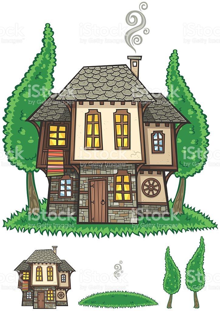 Traditional Bulgarian House stock vector art 520554788.