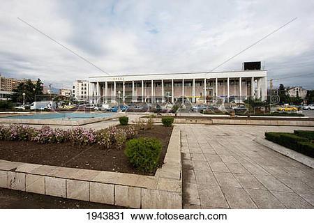 Stock Photography of Opera House On Skanderbeg Square, Tirana.