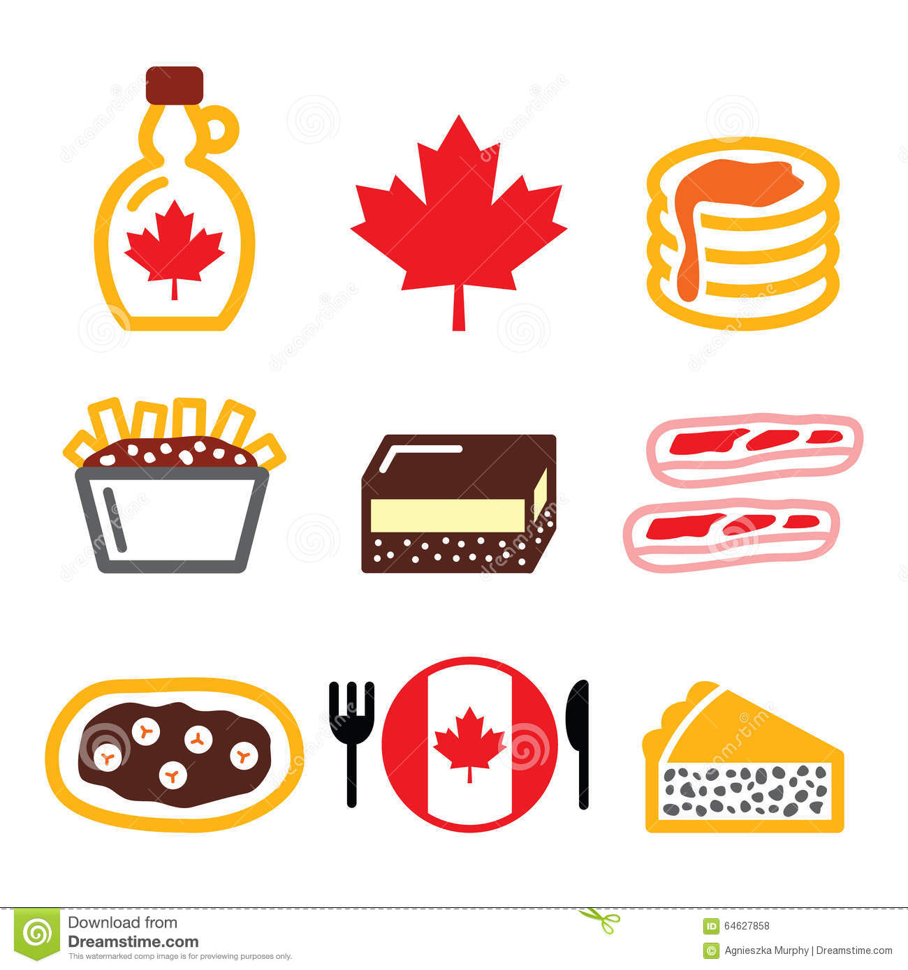 Canadian Food Icons.