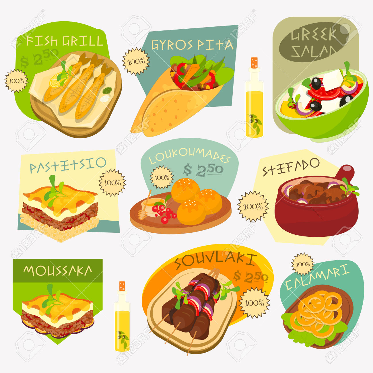 Traditional Food Clipart.