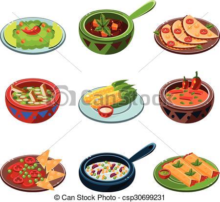 Vectors of Mexican National Food Set.