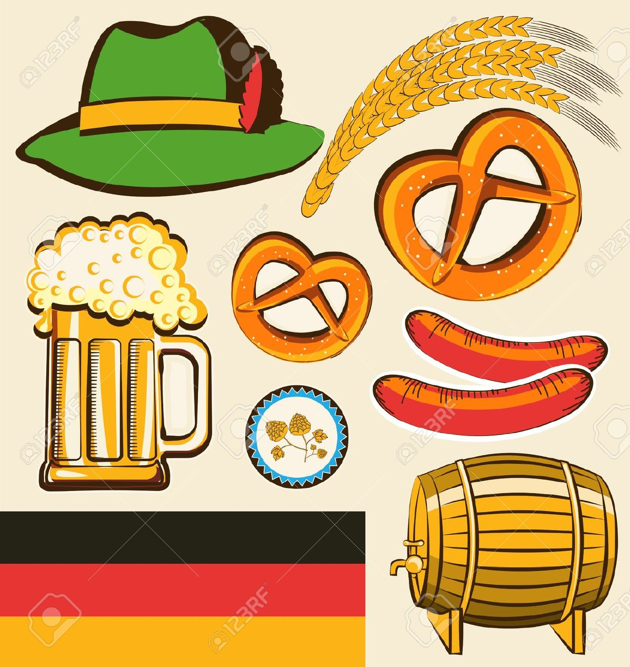 Free german food clipart.