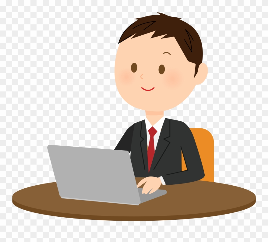Clipart Computer Typing.