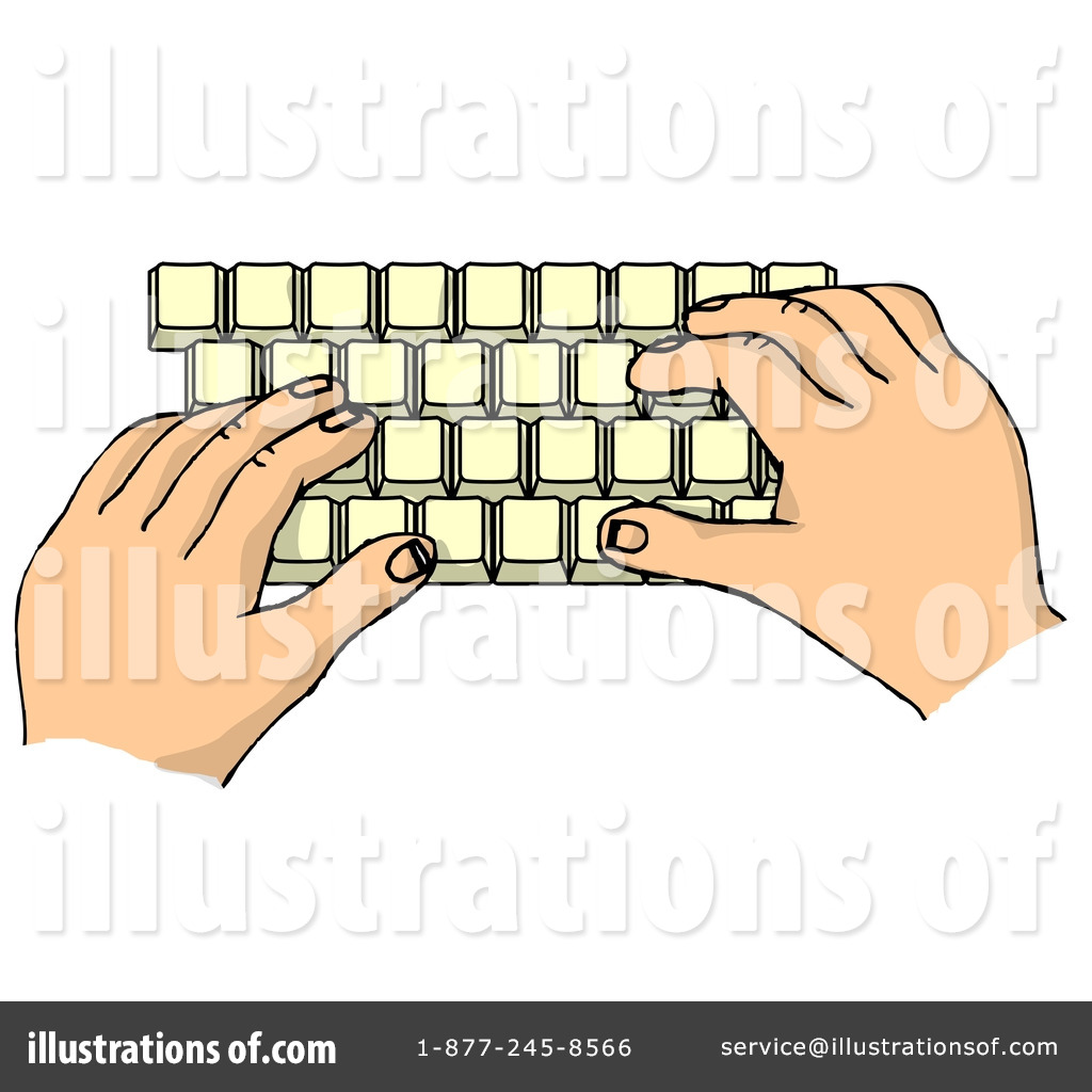 Typing Clipart #6070.