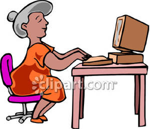 Typing 20clipart.